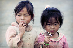 Two cute little Vietnamese girl Stock Photo