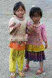 Two cute little Vietnamese girl Royalty Free Stock Photos