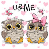 Two Cute Owls Stock Photography