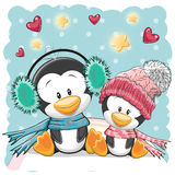 Two Cute Penguins Royalty Free Stock Image