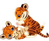 Cute playful tiger cub stock illustration