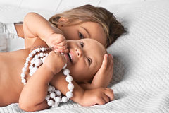 Two cute sisters Royalty Free Stock Photos