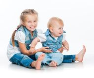 Two cute sisters Royalty Free Stock Image