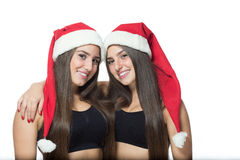 Two cute sisters twins Royalty Free Stock Photos
