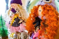 Red hair tilda doll stock image