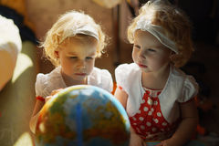 Two cute twin girls Royalty Free Stock Photography