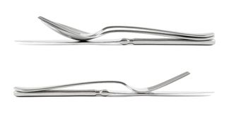 Two cutlery compositions isolated Stock Image