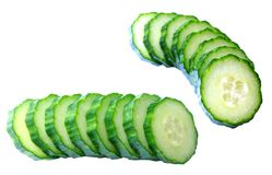 Two cutting slice of pickle Royalty Free Stock Image
