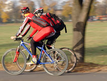 Two cyclists Royalty Free Stock Photo