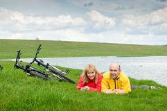 Two cyclists Royalty Free Stock Image