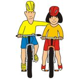 Two cyclists Royalty Free Stock Photography