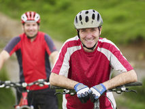 Two Cyclists Outdoors Royalty Free Stock Photo