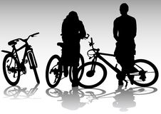 Two cyclists on rest Royalty Free Stock Images