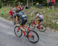 Two Cyclists - Tour de France 2017 royalty free stock photo