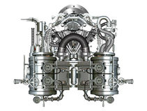 Two-cylinder engine Royalty Free Stock Images