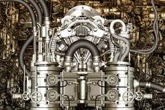 Two-cylinder engine Stock Image