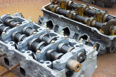 Two cylinder heads Stock Photo