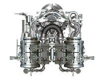 Two-cylinder motor Royalty-vrije Stock Afbeeldingen