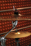 Two cymbals. Closeup of two cymbals Royalty Free Stock Photos