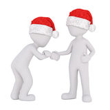 Two 3d figures bumping fists in greeting Stock Image