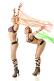 Two dancer girl on white backgro Stock Images