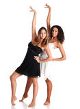 Two dancer girls Royalty Free Stock Photography