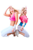 Two dancers Royalty Free Stock Photos
