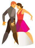 Two dancers dancing in a passionate Salsa Royalty Free Stock Image