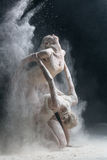 Two dancers in flour Royalty Free Stock Photo