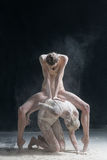 Two dancers in flour Stock Image