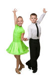 Two dancing children Stock Image