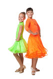 Two dancing girls Stock Image