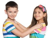 Two dancing kids Stock Photo