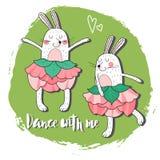 Two dancing rabbit. Stock Photography