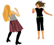 Two dancing teenagers Royalty Free Stock Photos