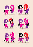 Two dancing women Stock Photography