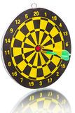 Two darts in the bull's eye Stock Image
