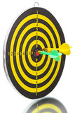 Two darts  and  bull's eye Stock Images