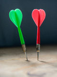 Two darts Royalty Free Stock Images