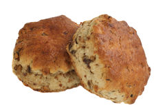 Two date and maple scones Royalty Free Stock Photo