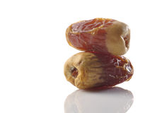 Two dates. Stacked on each other Stock Photo