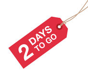 Two day to go sign Stock Photo