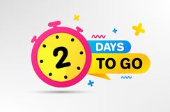 Free Two Days Left Icon. 2 Days To Go. Vector Stock Photo - 194879290