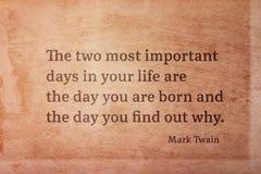 Two days Twain Stock Image