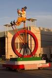 Two days at Viareggio carnival 's beginning Royalty Free Stock Photo