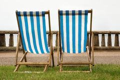 Two deck chairs Royalty Free Stock Photos