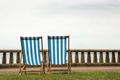 Two deck chairs Royalty Free Stock Photo