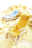 Two deck chairs on a towel Stock Photos