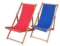 Two Deckchairs Stock Photography