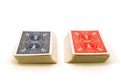 Two Decks of Cards royalty free stock photos